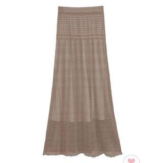Lily Brown - リリーブラウン クロシェライクニットスカート