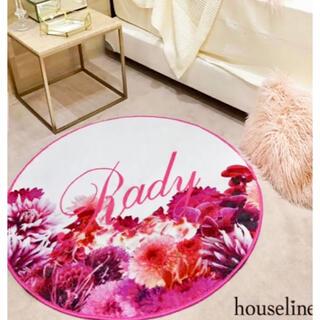 Rady - Rady♡ラグ マット♡リゾフラ♡ホワイト ピンク フラワー 模様替え