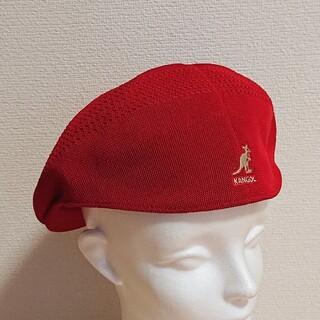 カンゴール(KANGOL)のL 新品 KANGOL TROPIC 504 VENTAIR レッド(ハンチング/ベレー帽)