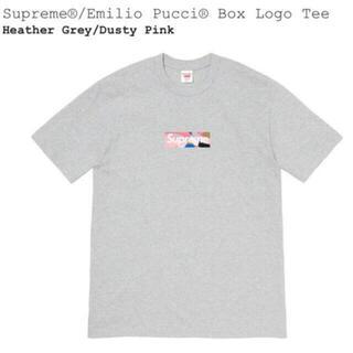 シュプリーム(Supreme)のSupreme Emilio pucci box logo tee gray M(Tシャツ/カットソー(半袖/袖なし))