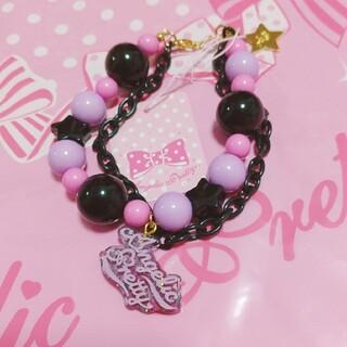 Angelic Pretty - Neonロゴブレスレット 黒