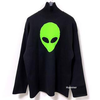 バレンシアガ(Balenciaga)の国内正規品 極美品 バレンシアガ 2021 alien ニット セーター XL(ニット/セーター)