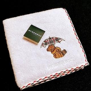 BURBERRY - BURBERRY タオルハンカチ 刺繍