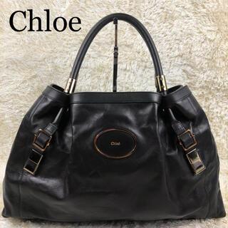 Chloe - 極美品✨クロエ ヴィクトリア レザー トートバッグ ゴールド金具 A4可 黒