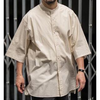 COMOLI - ETS.MATERIAUX Band collar shirt  マテリオ