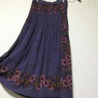グリモワール(Grimoire)のレトロ 花柄 スカート 9号(ロングスカート)