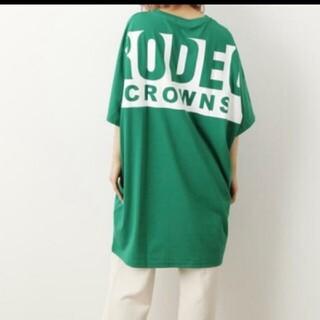 RODEO CROWNS WIDE BOWL - ロデオクラウンズ   ビッグボックスロゴTシャツワンピ