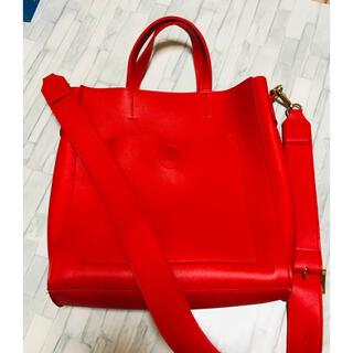 韓国ファッション 赤 レッド 合皮 カバン バッグ 即購入可能