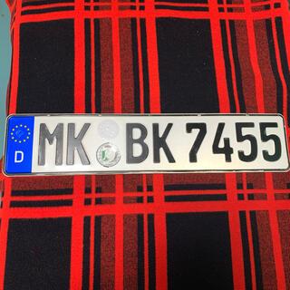 ビーエムダブリュー(BMW)の7455本物 ドイツ ユーロナンバープレート BMW ベンツ アウディ ポルシェ(車外アクセサリ)