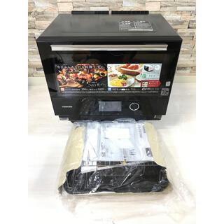 トウシバ(東芝)の美品 東芝 過熱水蒸気オーブン 石窯ドームER-TD7000(K) ブラック(電子レンジ)