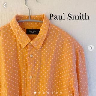 Paul Smith - Paul Smith|ポール・スミス 半袖シャツ 麻100% ドット柄 オレンジ
