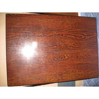 送料込み木目調ローテーブル縦105cm×75cm×32cm (ローテーブル)