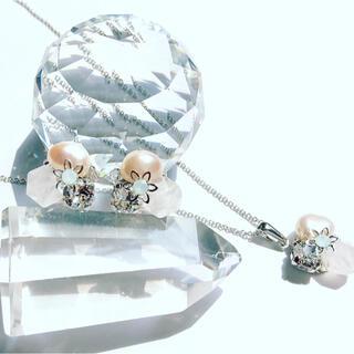 スワロフスキー(SWAROVSKI)の【天然石】 ローズクォーツ  宝石箱のようなセット (ネックレス)