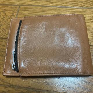マルタンマルジェラ(Maison Martin Margiela)のマルジェラ  フリップフラップ二つ折り財布 ブラウン✖️ブラック(折り財布)