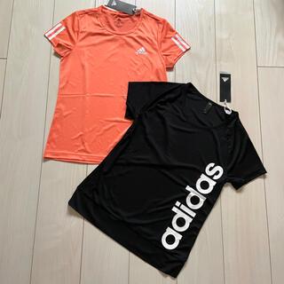 adidas - 新品 adidas キッズ Tシャツ 160 ブラック 黒 オレンジ まとめ売り