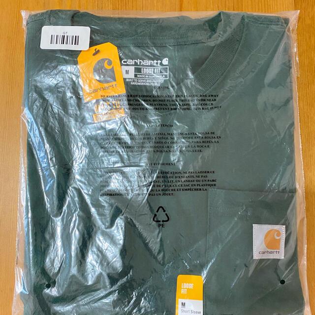 carhartt(カーハート)のカーハート Tシャツ グリーン 半袖 k87 緑 carhartt ポケット メンズのトップス(Tシャツ/カットソー(半袖/袖なし))の商品写真