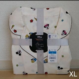 ジーユー(GU)のGU サテンパジャマ XL ディズニー オフホワイト(パジャマ)