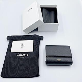 celine - セリーヌ CELINE 三つ折り財布 ミニ財布 ブラック