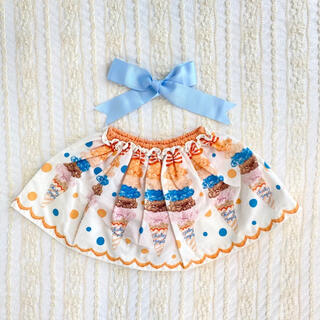Shirley Temple - シャーリーテンプル アイス スカパン オレンジ 80cm 90cm スカート