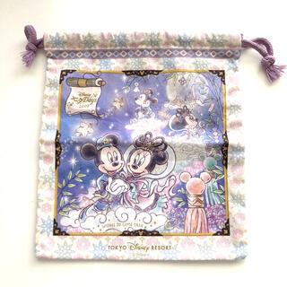 TOKYO Disney resort 七夕days 2019 巾着 未使用品(キャラクターグッズ)
