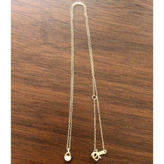 ヨンドシー(4℃)の4℃ K18 PG 雫型 一粒ダイヤ ネックレス(ネックレス)