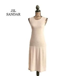 ジルサンダー(Jil Sander)のJIL SANDAR ジルサンダー ワンピース ドレス ベージュ(ひざ丈ワンピース)