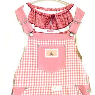 PINK HOUSE - ♡ピンクハウス♡ クマちゃん 刺繍 ジャンスカ ロングワンピース インナー付き