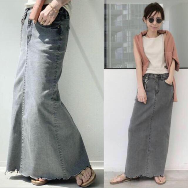 L'Appartement DEUXIEME CLASSE(アパルトモンドゥーズィエムクラス)の【20ss 36】L'Appartement GOOD GRIEF スカート レディースのスカート(ロングスカート)の商品写真