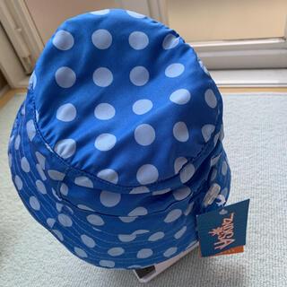 コストコ(コストコ)の☆新品タグ付き☆ブルー ドット柄 UV SKINZ キッズ 帽子 ハット(帽子)