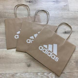 adidas - adidas紙袋 アディダスショッパー 3枚 アディダス紙袋