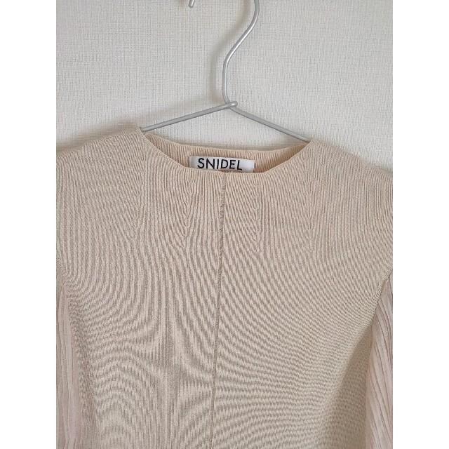 snidel(スナイデル)のsnidel 半袖ニット レディースのトップス(カットソー(半袖/袖なし))の商品写真