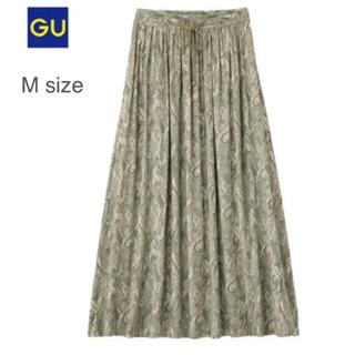 GU - 【GU】イージーマキシスカートペーズリー