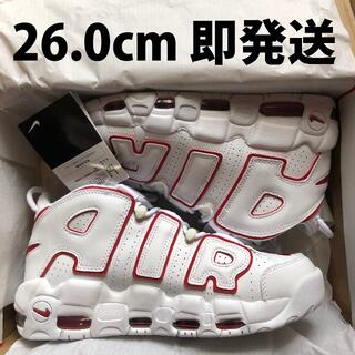 NIKE - 26.0cm 即発送 NIKE AIR MORE UPTEMPO 白赤 モアテン