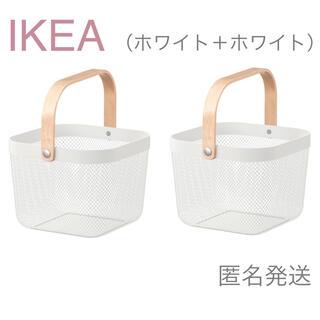 IKEA - 【新品】IKEA バスケット かご 2個(ホワイト + ホワイト)リーサトルプ
