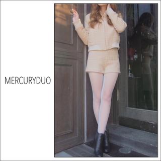 MERCURYDUO - MERCURY DUO ツイード ショートパンツ*リリーブラウン  deicy