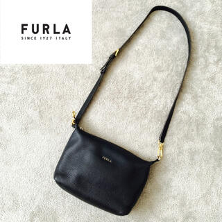 Furla - 美品☆ FURLA フルラ ショルダーバッグ 金具 バッグ レディース ブラック