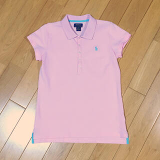 POLO RALPH LAUREN - 【160】ポロラルフローレン 半袖ポロシャツ ピンク×水色