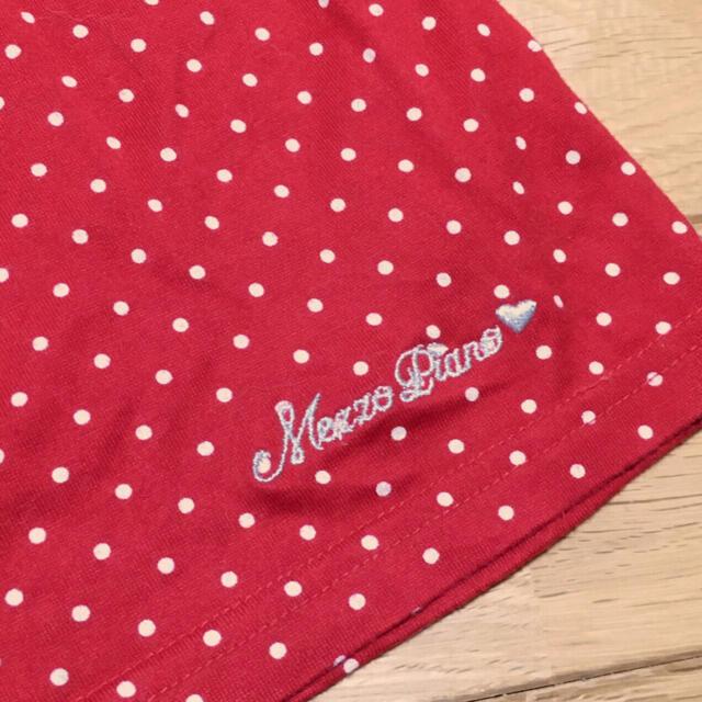 mezzo piano(メゾピアノ)の【150】メゾピアノ 半袖Tシャツ 赤×白ドット キッズ/ベビー/マタニティのキッズ服女の子用(90cm~)(Tシャツ/カットソー)の商品写真