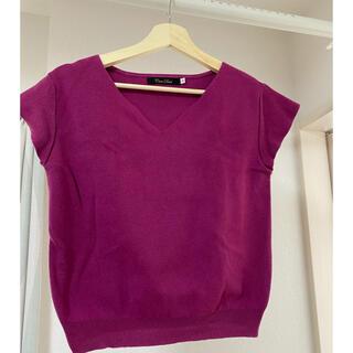 ココディール(COCO DEAL)のハートネック サマーニット(Tシャツ(半袖/袖なし))