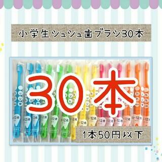 セール‼️小学生シュシュ歯ブラシ30本(歯ブラシ/歯みがき用品)