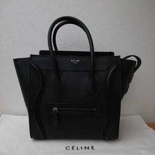 セリーヌ(celine)のCELINE☆セリーヌ ラゲージ マイクロ ブラック(ハンドバッグ)