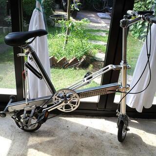 【限定出品~6/29】Carry Me折りたたみ自転車シルバーエアータイヤ仕様