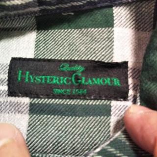 HYSTERIC GLAMOUR - ヒステリックグラマー チェック コットンネルシャツ