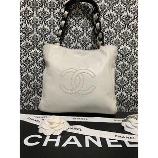 CHANEL - ☆正規品☆シャネル ラムスキンホワイトハンドバッグ 極美品♪