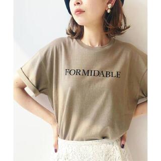 IENA - 美品♡IENA FORMIDABLEロゴプリントTシャツ