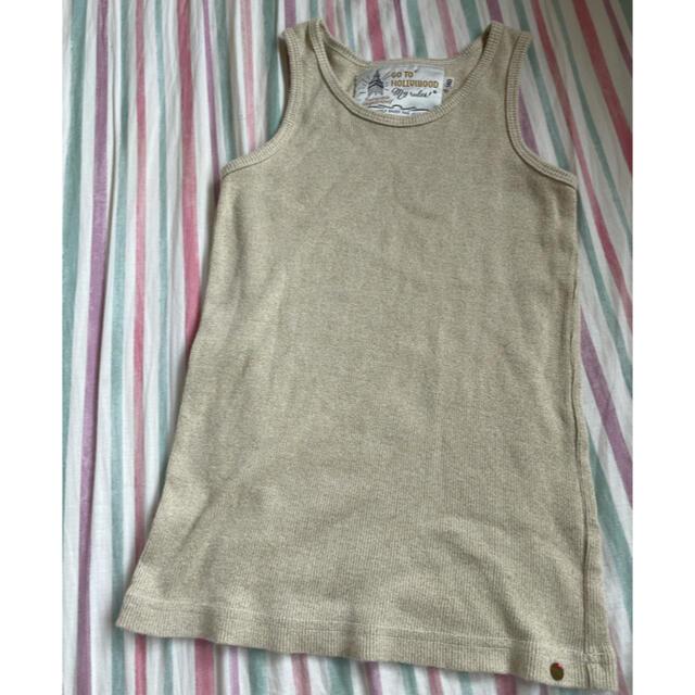 GO TO HOLLYWOOD(ゴートゥーハリウッド)のGO TO HOLLYWOOD タンクトップ 140 ゴールド キッズ/ベビー/マタニティのキッズ服女の子用(90cm~)(Tシャツ/カットソー)の商品写真