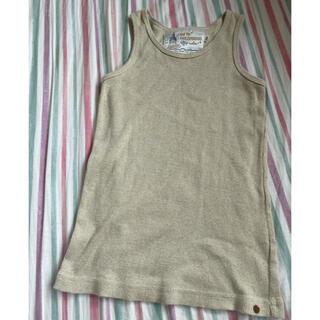 ゴートゥーハリウッド(GO TO HOLLYWOOD)のGO TO HOLLYWOOD タンクトップ 140 ゴールド(Tシャツ/カットソー)