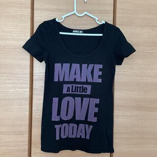 カーム(CALM)の黒のTシャツカットソー(Tシャツ(半袖/袖なし))