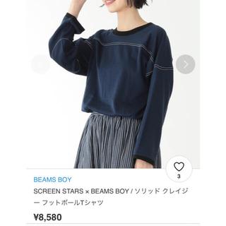 ビームスボーイ(BEAMS BOY)のSCREEN STARS × BEAMS BOY フットボールTシャツ ネイビー(Tシャツ(長袖/七分))