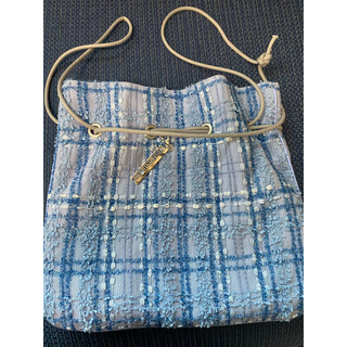 シャルマントサック  ツイード 巾着 バッグ